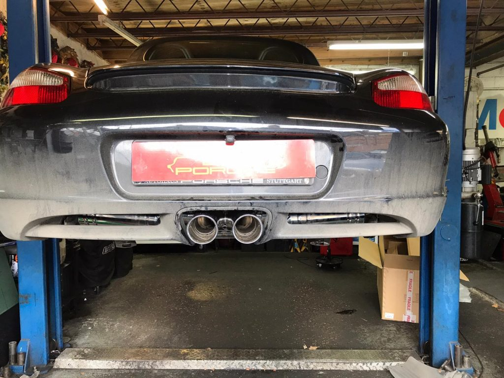 porsche boxster new exhaust fitted