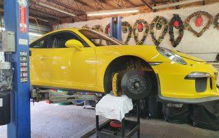 porsche ceramic front brake disc replacement + tyres